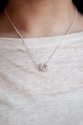 Love Knot Necklace, Delicate Short Necklace, Layering Necklace, Dainty Necklace, Layered Necklace