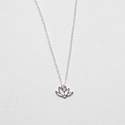 Layering Necklace, Lotus Flower Necklace, 925 Silver, Dainty Necklace, Lotus Flower, Silver Lotus Flower Necklace, De...
