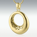 Eternity Circle 14k Gold Vermeil Cremation Jewelry
