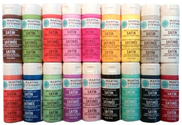Martha Stewart Craft Kits For Women Satin Paints 18-Pack