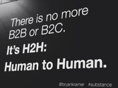 There Is Only Human to Human | Social Media Today