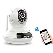 Security Camera, LeFun 720p Wireless Wifi Surveillance Camera Indoor IP Camera with Pan Tilt Zoom Motion Detect Two W...