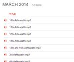 MARCH 2014 - Click here to see all tracks