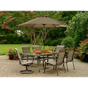 Garden Oasis Dakota Glass Top Table - Outdoor Living - Patio Furniture - Tables & Side Tables