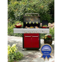 Kenmore 4-Burner Gas Grill - Red - Outdoor Living - Grills & Outdoor Cooking - Gas Grills