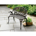 Country Living Cast Iron & Aluminum Bench - Outdoor Living - Patio Furniture - Benches, Loveseats & Settees