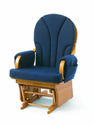 Amazon.com: Foundations Lullaby Adult Glider Rocker, Natural/Blue: Baby