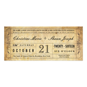 Vintage Style Wedding Ticket Invitation