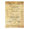 Vintage Ornate Wedding RSVP