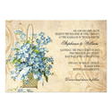Vintage Floral Swirl Wedding Invitation