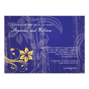 Blue and Yellow Swirl Wedding Invitation