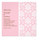 Pink Damask Wedding Invitation