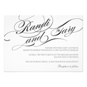 Flourish Black and White Wedding Invitation