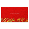 Vintage Red Asian Swirl Wedding Placecards
