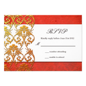Red Asian Swirl Wedding RSVP