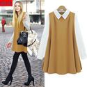 2013 new arrival fashion elegant casual peter pan collar loose waist womendress-inDresses from Apparel & Accessories ...
