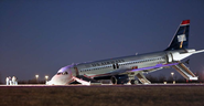 Jet blows tire, skids to stop at Philadelphia International Airport