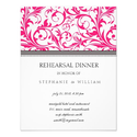 Pink Swirl Rehearsal Dinner Card