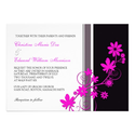 Pink Flower Wedding Invitation