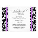 Purple Swirl Rehearsal Dinner Card