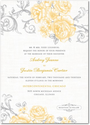 Signature White Textured Wedding Invitations