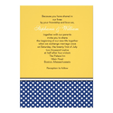 Blue Polka Dot and Yellow Wedding Invitation