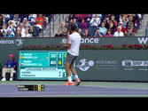 Rafael Nadal Hits Indian Wells Hot Shot Against Stepanek