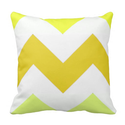 Summer Yellows Chevron Throw Pillow