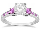 Best Pink Sapphire Engagement Rings Princess Cut