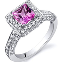 Best Pink Sapphire Engagment Rings Princess Cut