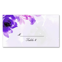 Purple Rose Wedding Place Cards