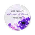 Purple Rose Romantic Wedding Sticker