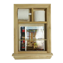 Wood Toilet Paper Holder with Magazine Rack