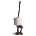 Long Necked Giraffe Holds the Toilet Paper