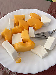 Papaya and chees on Cape Verde