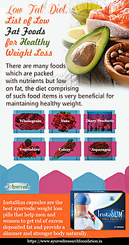Low Fat Diet for Weight Loss Infographic, List of Healthy Low Fat Foods