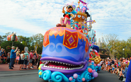 Colorful Floats and Costumes
