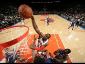 Amar'e Stoudemire Throws the Facial Down on Thaddeus Young
