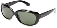 Ray-Ban Women's 4101 Jackie Ohh Sunglasses,Black Frame/G-15 XLT Lens,60 mm