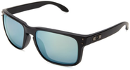 Oakley mens Holbrook OO9102-50 Iridium Polarized Sport Sunglasses,Matte Black,55 mm