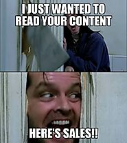 Content Marketing and sales meme