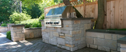 Northbrook outdoor fireplace by Lindemann Chimney Service