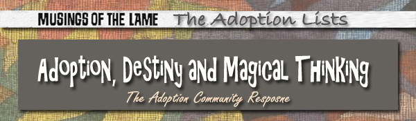 Headline for Adoption, Destiny and Magical Thinking