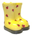 Ladybug Rain Boot Planter Pot-Galoshes Wellingtons-Ceramic