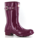 Hunter Original Gloss Short Violet Womens Boots Size 11 US