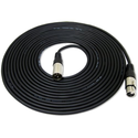 GLS Audio 25 foot Mic Cable Patch Cords - XLR Male to XLR Female Black Microphone Cables - 25' Balanced Mic Snake Cor...
