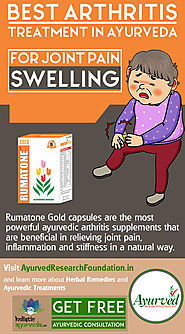 Ayurvedic Arthritis Supplements, Herbal Rumatone Gold Capsules in India