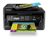 Epson WorkForce WF-2540 Wireless All-in-One Color Inkjet Printer, Copier, Scanner ADF, Fax. Prints from Tablet/Smartp...