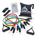 Black Mountain Products Resistance Band Set with Door Anchor, Ankle Strap, Exercise Chart, and Resistance Band Carryi...
