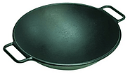 Lodge Pro-Logic P14W3 Cast Iron Wok, Black, 14-inch
